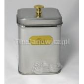 (puszka) Srebrna ze złotym napisem Tea 100g