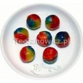 (słodycze) Bonbons Tęczowe Kulki o smaku berberysu (bez cukru)