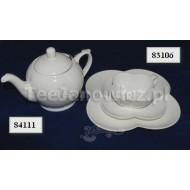 Filiżanka porcelanowa biała koniczynka