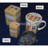 Kubek porcelanowy w czajniczki